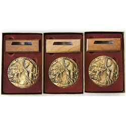 WORLDWIDE GROUP LOTS: LOT of 7 elephant medals, retail value $625