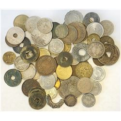 WORLDWIDE GROUP LOTS: LOT of 63 coins, an interesting and diverse lot