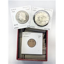 WORLDWIDE GROUP LOTS: LOT of 59 European coins from the early 19th to 20th century