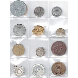 WORLDWIDE GROUP LOTS: LOT of 23 diverse Swiss and U.S. medals