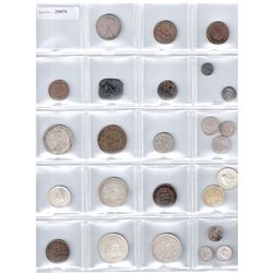 WORLDWIDE GROUP LOTS: LOT of 29 coins, retail value $500