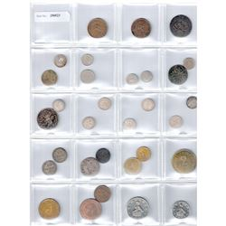 WORLDWIDE GROUP LOTS: LOT of 35 coins, retail value $450