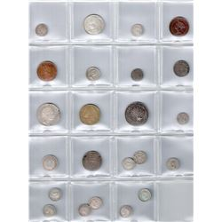 WORLDWIDE GROUP LOTS: LOT of 25 coins, retail value $425