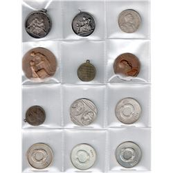 WORLDWIDE GROUP LOTS: LOT of 23 diverse medals and coins,  retail value $450