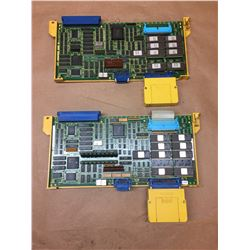 (2) FANUC A16B-2200-013 PC BOARDS W/ A02B-0094 CASSETTES