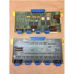 (2) FANUC A16B-1212-0030/02B & DA16B-2200-0090/06A AXIS CONTROL BOARDS