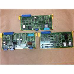 (3) FANUC A16B-2200-017 & A16B-2200-0150/02A & A16B-2200-016 BOARDS