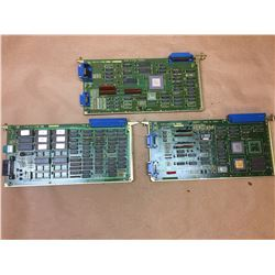 (3) FANUC A16B-1211-0290/04A & A16B-1211-0271/02A & A16B-1211-0250/01A BOARDS