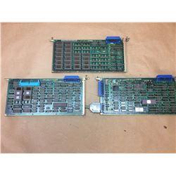 (3) FANUC BOARDS A20B-0008-0440-03A, A20B-0008-0480/02A & A20B-0008-0430