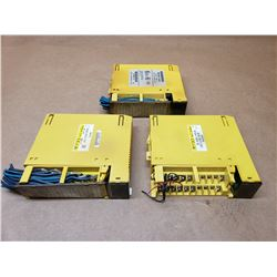 (3) FANUC A03B-0819-C161 & A03B-0819-C104#D & A03B-0819-C051 OUTPUT MODULES