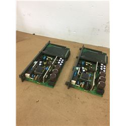 (2) Fanuc A16B-2203-0370 Power Supply Boards