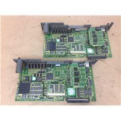 (2) Fanuc A16B-3200-0412 CPU Main Board w/ A20B-3300-0105 Control Board
