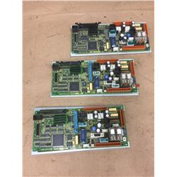 (3) Fanuc A20B-2100-077 Control Boards