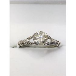14K WHITE GOLD DIAMOND RING SIZE 6