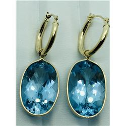 BLUE TOPAZ RING AND EARRINGS: