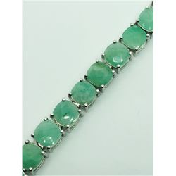 EMERALD BRACELET & RING LOT: