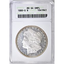 1880-S MORGAN DOLLAR   ANACS MS-64 DMPL