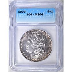1903 MORGAN DOLLAR  ICG MS-64