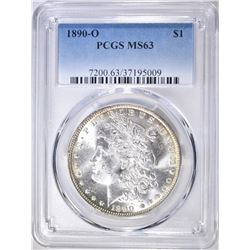 1890-O MORGAN DOLLAR  PCGS MS-63