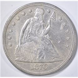 1870-CC SEATED LIBERTY DOLLAR  AU/BU