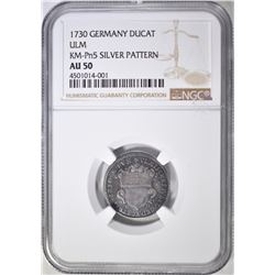 1730  DUCAT ULM GERMANY NGC AU-50