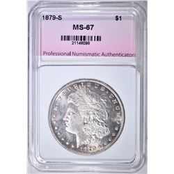 1879-S MORGAN DOLLAR, PNA SUPERB GEM