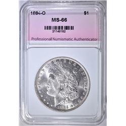 1884-O MORGAN DOLLAR, PNA SUPERB GEM