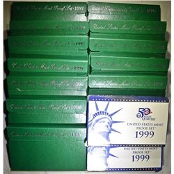 U.S. PROOF SETS FROM THE 1990'S: