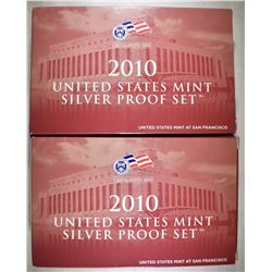 2-2010 U.S. SILVER PROOF SETS ORIG PACKAGING