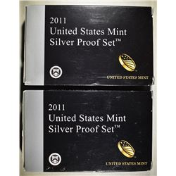 2-2011 U.S. SILVER PROOF SETS IN ORIG PACKAGING
