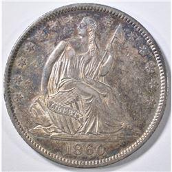 1860-O SEATED HALF DOLLAR  ORIG UNC PL