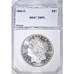 1884-O MORGAN DOLLAR  PCI SUPERB GEM DMPL