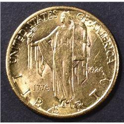 1926 $2.5 GOLD SESQUI  CH/BU