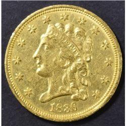 1836 $2.5 GOLD CLASSIC HEAD  CH BU
