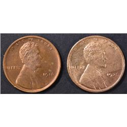 1925 & 1916 LINCOLN CENTS  CH BU