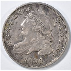 1834 BUST DIME  XF