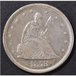 1875-S 20 CENT PIECE  XF