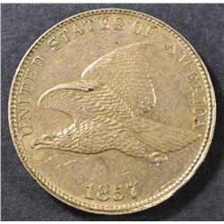 1857 FLYING EAGLE CENT AU/BU