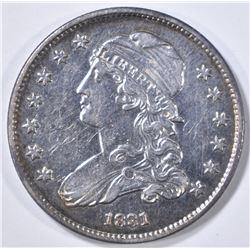 1831 CAPPED BUST QUARTER AU/BU NICE