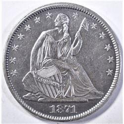 1871-S SEATED LIBERTY HALF DOLLAR CH/BU