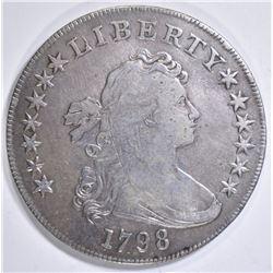 1798 BUST DOLLAR, VF
