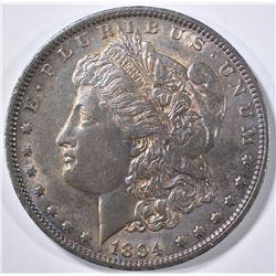 1894 MORGAN DOLLAR CH AU TONED