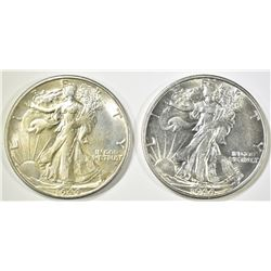 2- 1944-S WALKING LIBERTY HALF DOLLARS