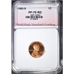 1982-S LINCOLN CENT WHSG PERFECT GEM PROOF RED