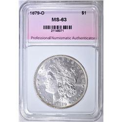 1879-O MORGAN DOLLAR, PNA CH BU