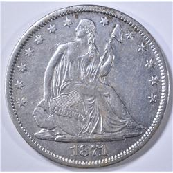 1871-S SEATED LIBERTY HALF DOLLAR AU