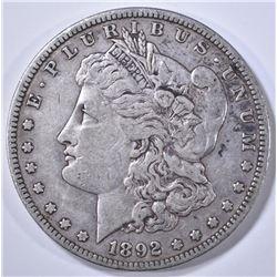 1892-S MORGAN DOLLAR XF