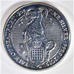 2019 QUEENS BEAST 2-Oz SILVER YALE OF BEAUFORD