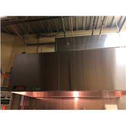 FAST STAINLESS STEEL KITCHEN HOOD, AS NEW