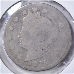 1885 LIBERTY NICKEL, AG THE KEY TO THE SERIES